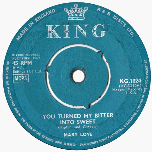 Mary Love 'You Turned My Bitter into Sweet'