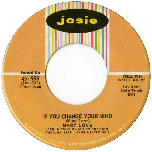 Mary Love 'If You Change Your Mind'