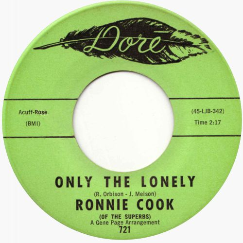 Ronnie Cook 'Only The Lonely'