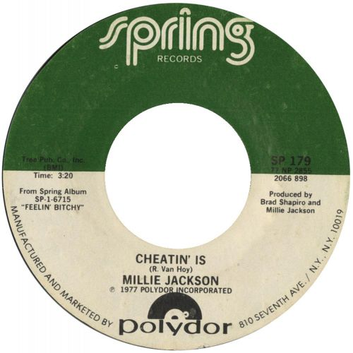 Millie Jackson 'Cheatin' Is'