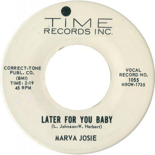 Marva Josie - Later For You Baby