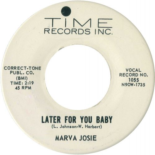 Marva Josie 'Later For You Baby'