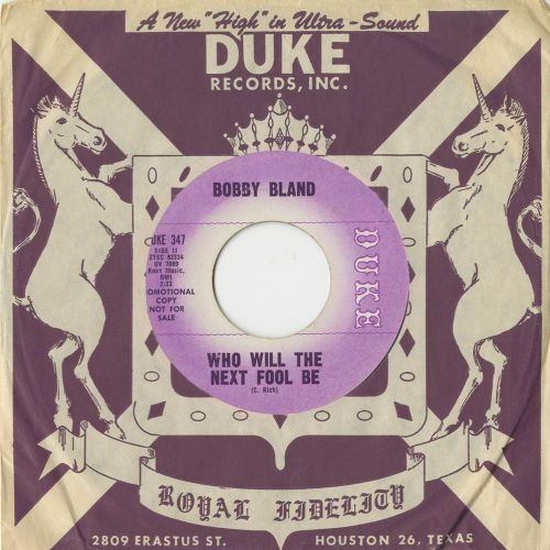 Bobby Bland - Who Will The Next Fool Be in bag