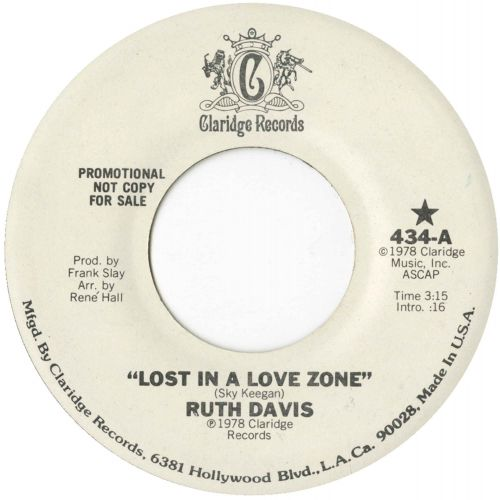 Ruth Davis 'Lost In A Love Zone'