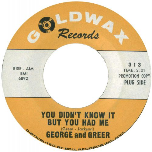 George and Greer 'You Didn't Know It But You Had Me'