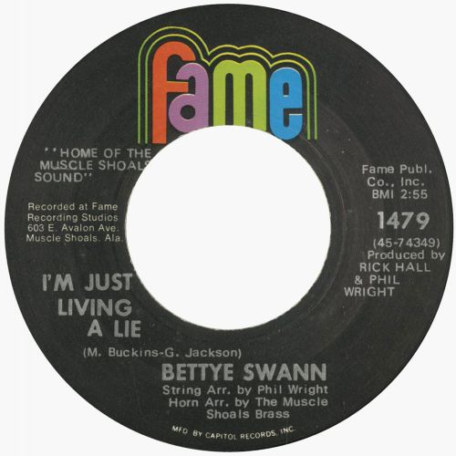 Bettye Swann 'I'm Just Living A Lie'