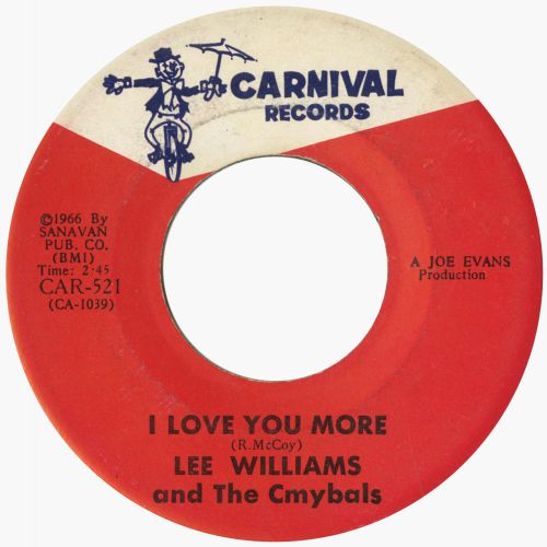 Lee Williams & The Cymbals 'I Love You More'