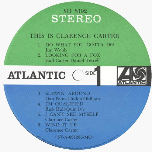 This Is Clarence Carter LP label side 1