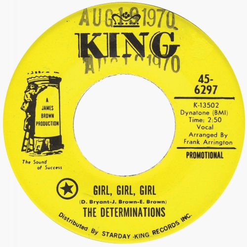 The Determinations 'Girl, Girl, Girl'