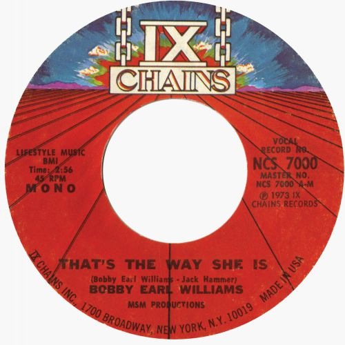 Bobby Earl Williams 'That's The Way She Is'