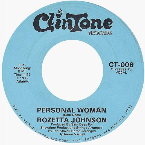 Rozetta Johnson 'Personal Woman'