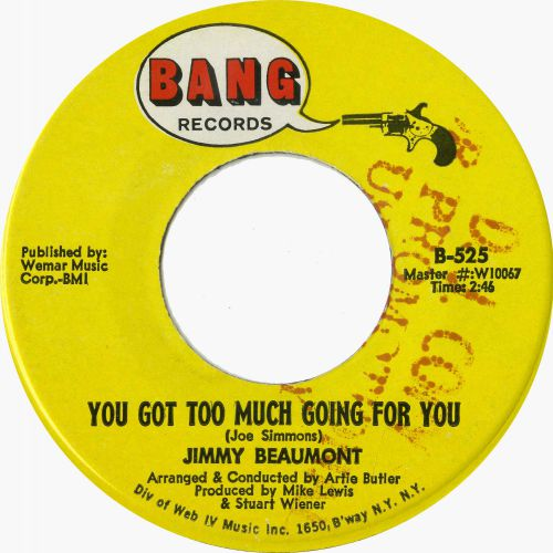 Jimmy Beaumont 'You Got Too Much Going For You'