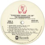 Everybody Wanna Live On LP side 1