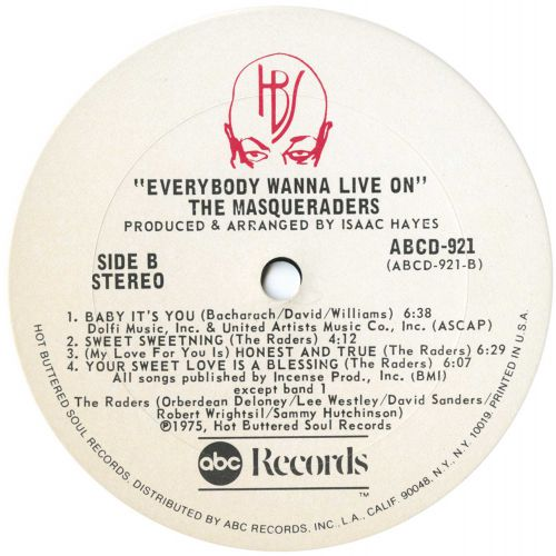 Everybody Wanna Live On LP side 2