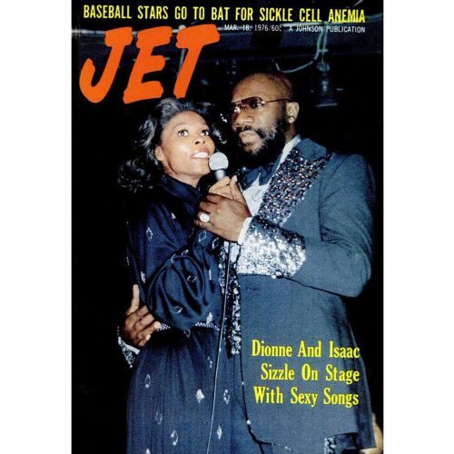 Isaac Hayes and Dionne Warwick on the cover of Jet