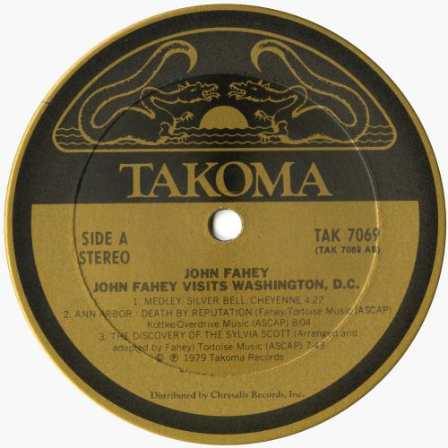 John Fahey 'John Fahey Visits Washington' courtesy of Roger Armstrong