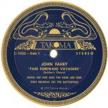 John Fahey 'Fare Forward Voyagers (Soldier's Choice)' LP label