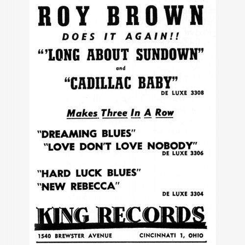 Roy Brown advert