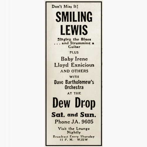 Smiling Lewis advert