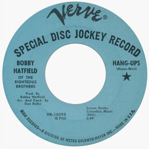 "BobbyHatfield 'Hang-Ups"" 45"