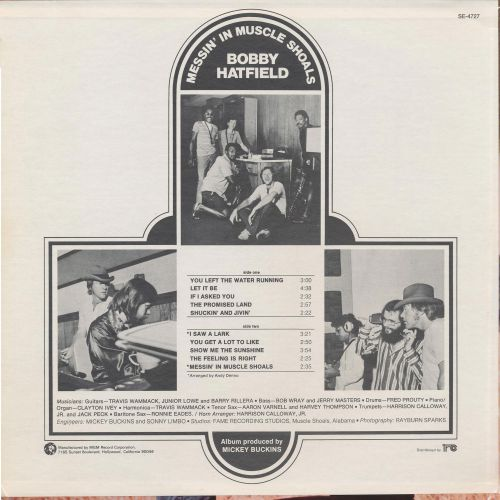 "Bobby Hatfield ""Messin' In Muscle Shoals"" (LP Back)"