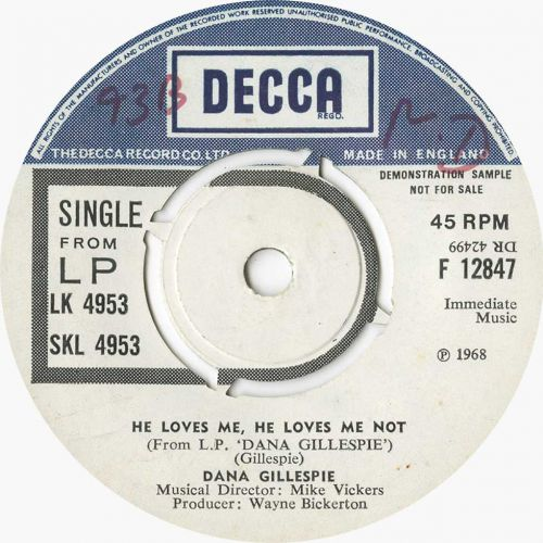 Dana Gillespie 'He Loves Me, He Loves Me Not'