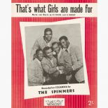 The Spinners 'That's What Girls Are Made For' song sheet courtesy Roger Stewart