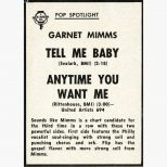 Garnet Mimms advert