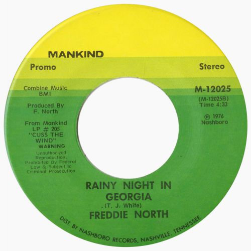 Freddie North 'A Rainy Night in Georgia' 45