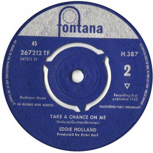 Eddie Holland 'Take A Chance On Me' courtesy of Malcolm Baumgart