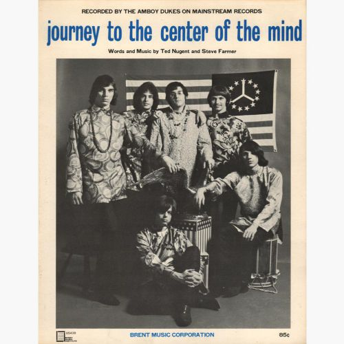 The Amboy Dukes 'Journey To The Center Of The Mind' song sheetcourtesy Barry Wickham