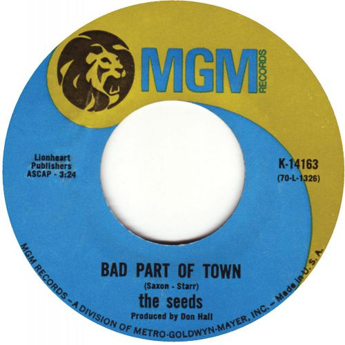 The Seeds - Bad Part Of Town