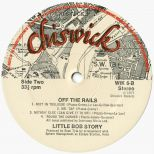 Little Bob Story 'Off The Rails' LP label side 2