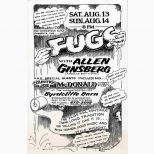 The Fugs with Allen Ginsburg poster