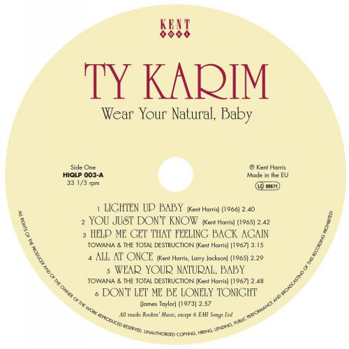 Wear Your Natural Baby LP label side 1