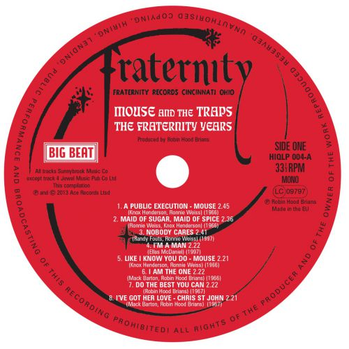 The Fraternity Years label side 1