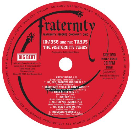 The Fraternity Years label side 2