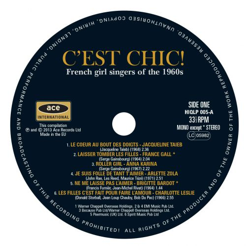 C'est Chic! French Girl Singers Of The 60s