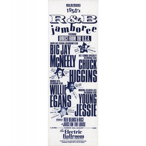 Young Jessie at the Electric Ballroom flyer