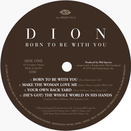 Born To Be With You label 1