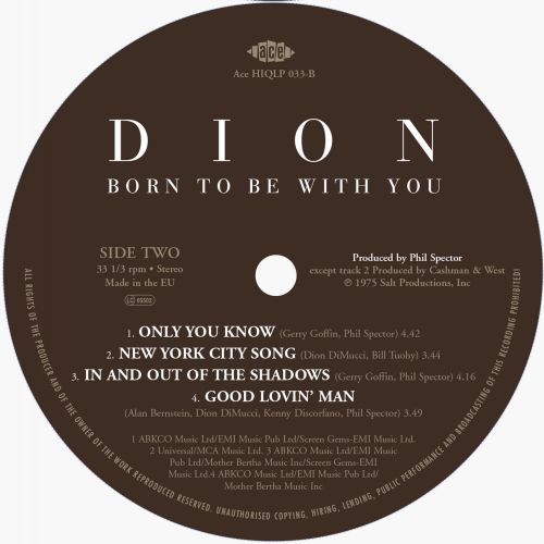 Born To Be With You label 2