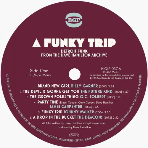 A Funky Trip - Detroit Funk From The Dave Hamilton Archive LP label 1