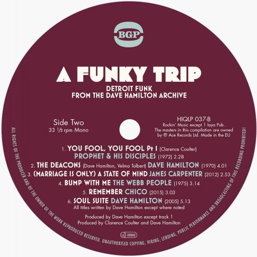 A Funky Trip - Detroit Funk From The Dave Hamilton Archive LP label 2