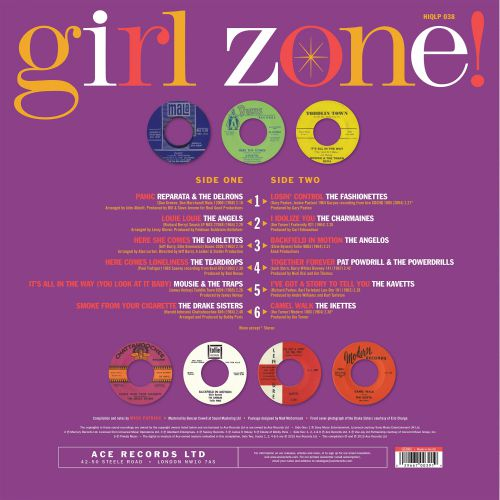 Girl Zone! LP back cover