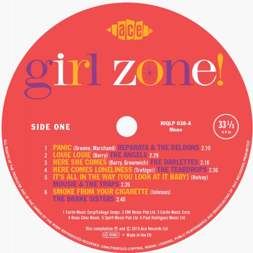 Girl Zone! LP label side 1