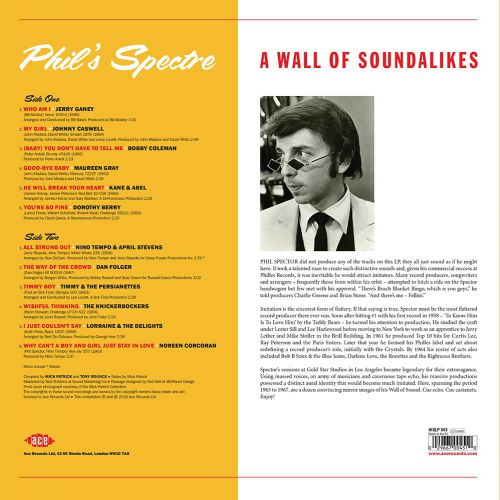 Phil's Spectre - A Wall Of Soundalikes LP back cover
