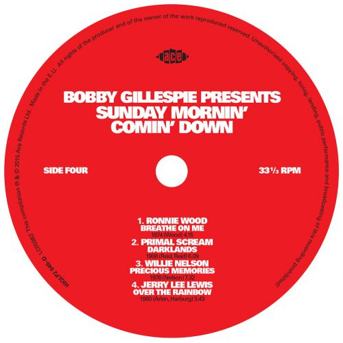 Bobby Gillespie Presents Sunday Mornin' Comin' Down LP label side 2