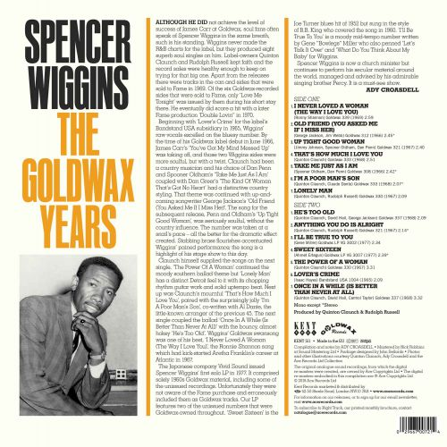 The Goldwax Years LP back cover