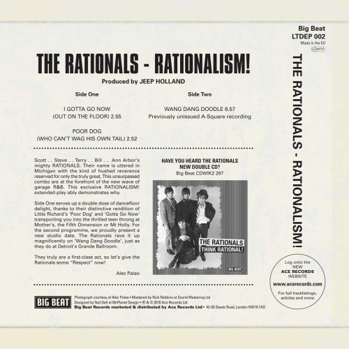 Rationalism! EP back cover