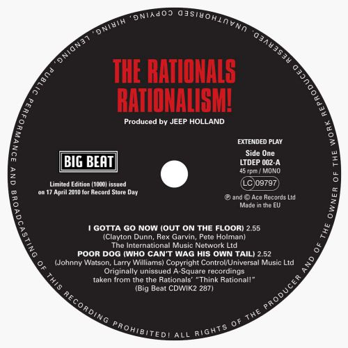 Rationalism! EP label side 1